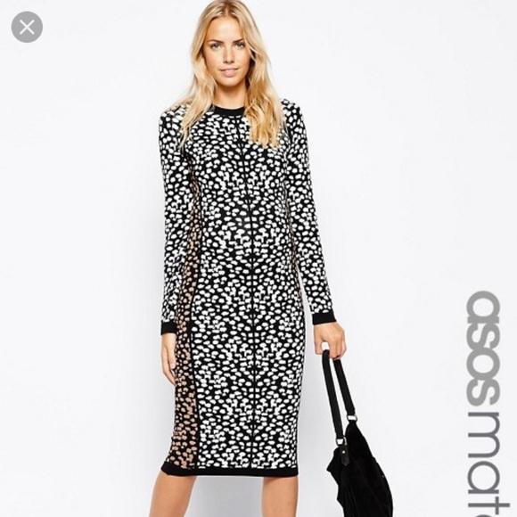 75b7654bab0 ASOS Maternity knitted midi dress in leopard